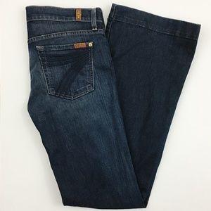 7 For All Mankind Dojo Wide Flare Leg Jeans 29